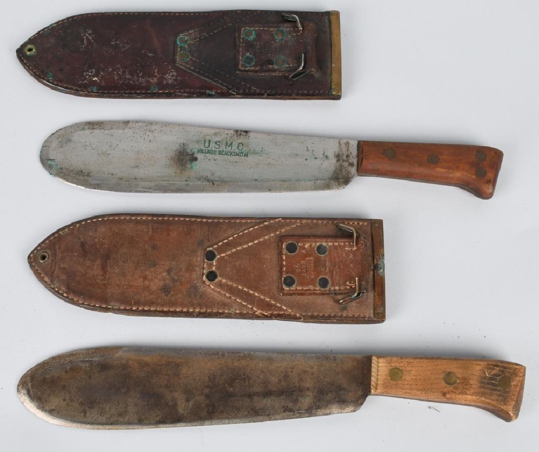 WWII USMC HOSPITAL CORPSMAN BOLO KNIFE LOT