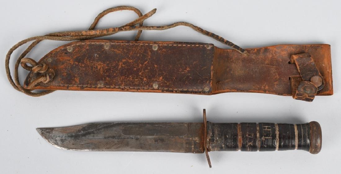 WWII IDED USMC MARINE CORPS KA-BAR KNIFE & SHEATH