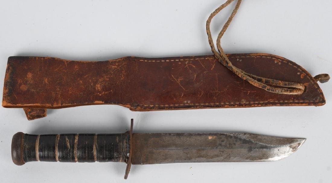 WWII IDED USMC MARINE CORPS KA-BAR KNIFE & SHEATH - 2