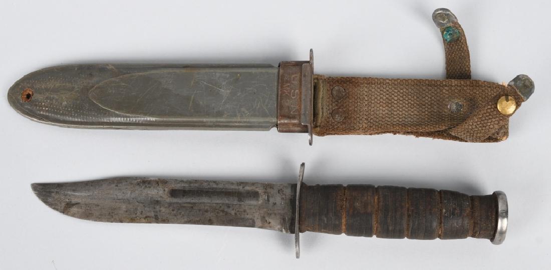 WWII USN MK2 KABAR FIGHTING KNIFE M 3 KNIFE - 2