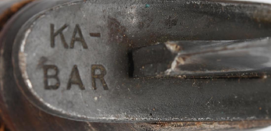 WWII USN MK2 KABAR FIGHTING KNIFE & SHEATH (2) - 6