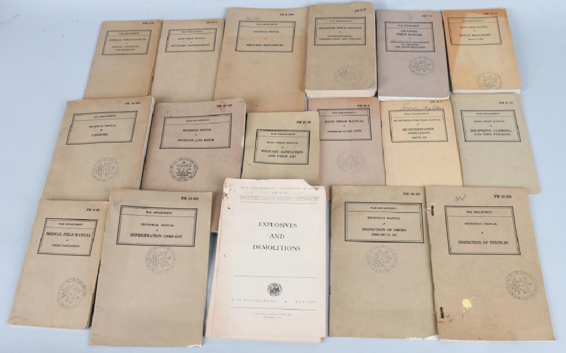 WWII U.S. MILITARY TECHNICAL & FIELD MANUAL LOT 17