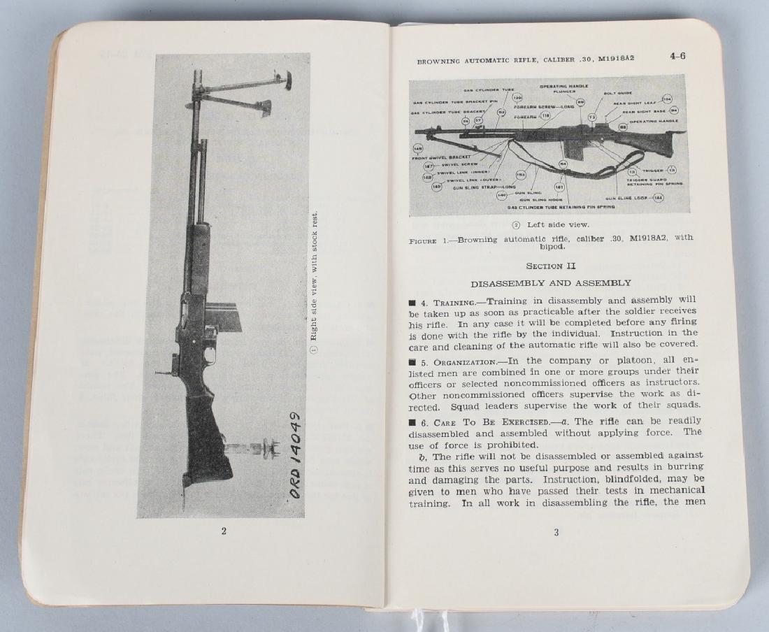 WWII US WAR DEPT MANUALS - SHOTGUNS & BAR RIFLES - 6