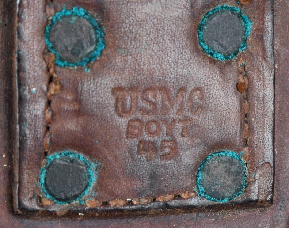 WWII USMC KA-BAR FIGHTING KNIFE AND HOSPITAL BOLO - 4
