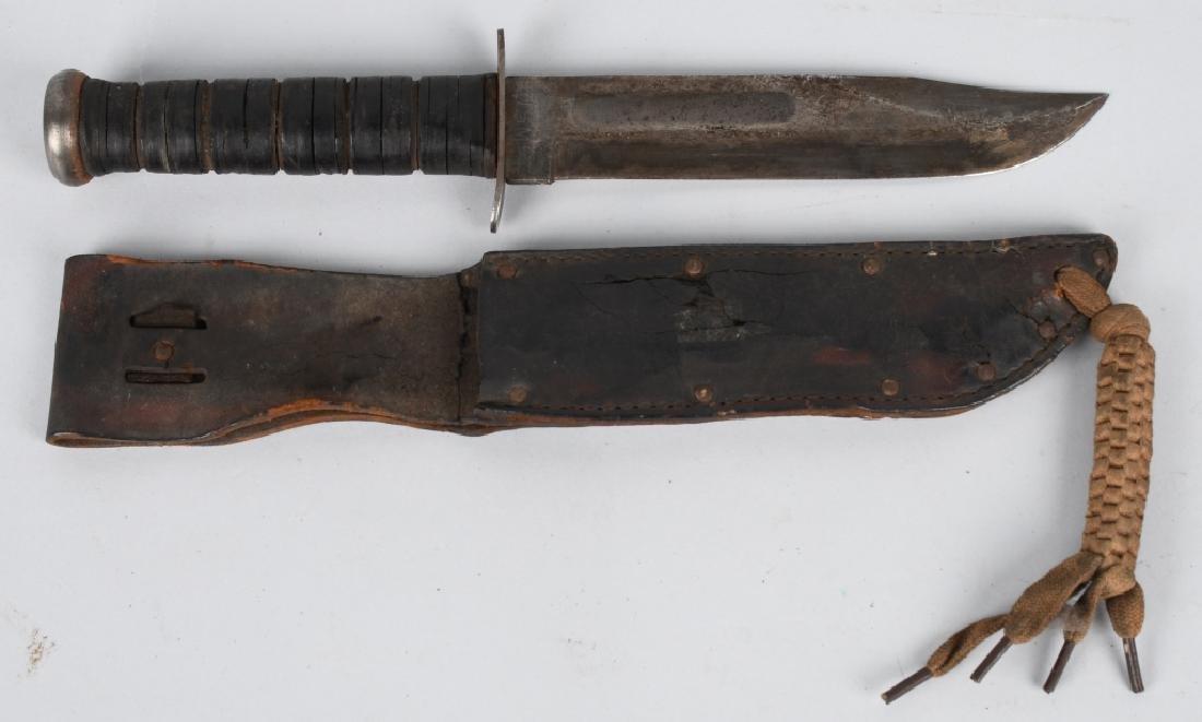 WWII USMC KA-BAR FIGHTING KNIFE AND HOSPITAL BOLO - 6