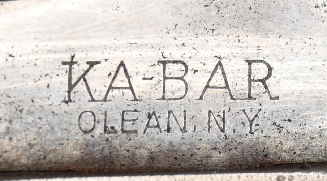 WWII USMC KA-BAR FIGHTING KNIFE AND HOSPITAL BOLO - 8