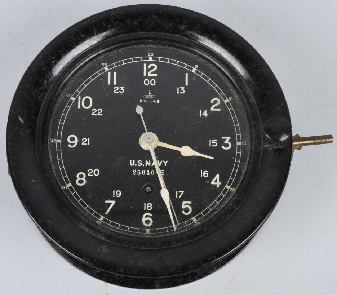 WWII US NAVY SETH THOMAS SHIP CLOCK