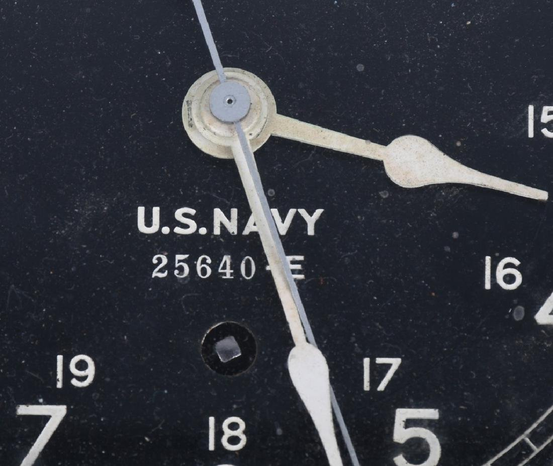 WWII US NAVY SETH THOMAS SHIP CLOCK - 2