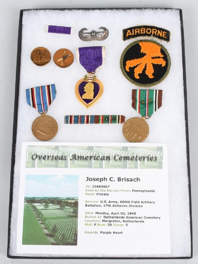 WWII U.S. 17TH AIRBORNE PURLPE HEART KIA