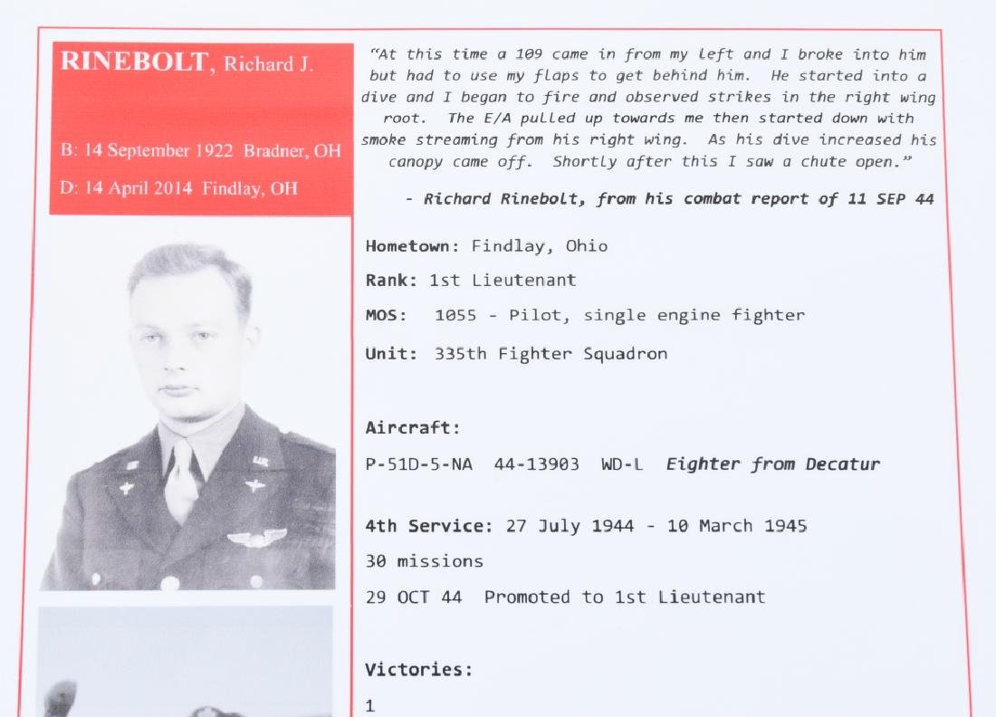 WWII US 8TH AAF IDED FIGHTER PILOT GROUP - 11