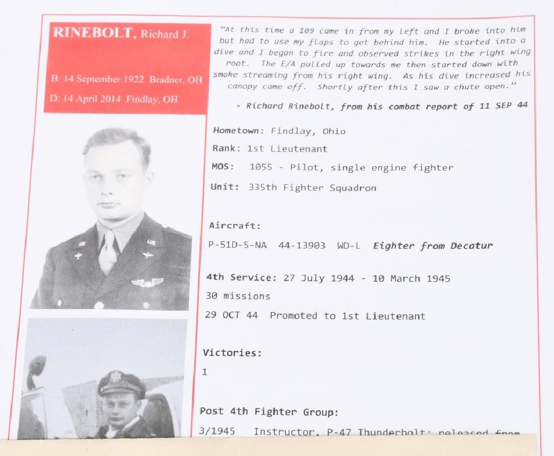 WWII US 8TH AAF IDED FIGHTER PILOT GROUP - 16