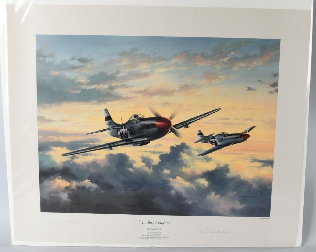 WWII AVIATION PRINT SIGNED ACE DON BLAKESLEE