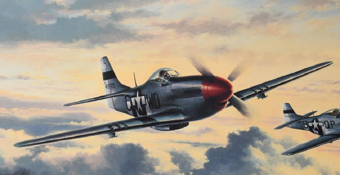 WWII AVIATION PRINT SIGNED ACE DON BLAKESLEE - 2