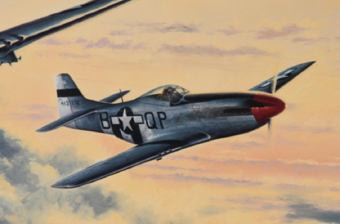 WWII AVIATION PRINT SIGNED ACE DON BLAKESLEE - 3