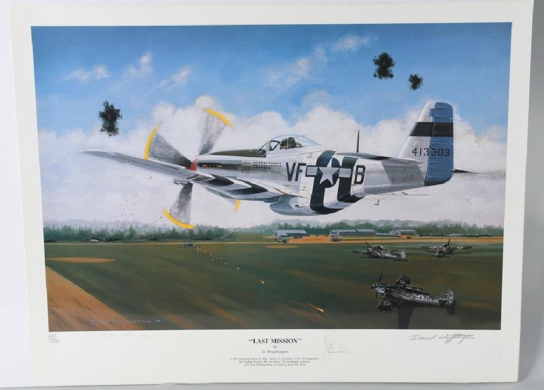 WWII AVIATION PRINT SIGNED ACE DON JAMES GOODSON