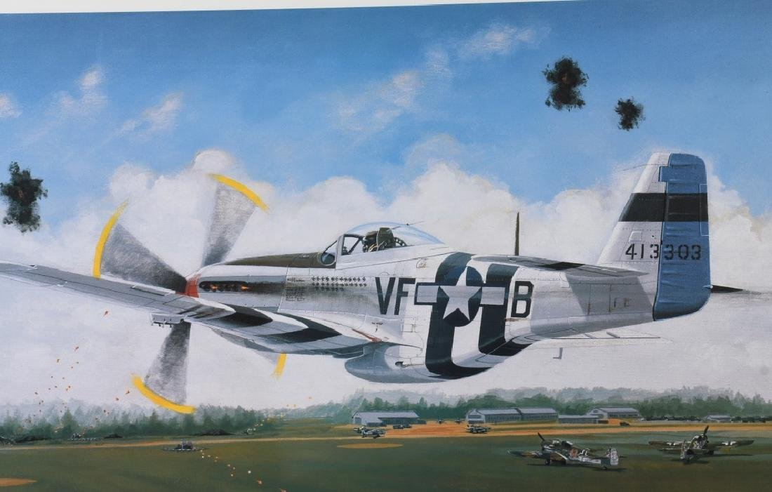 WWII AVIATION PRINT SIGNED ACE DON JAMES GOODSON - 2