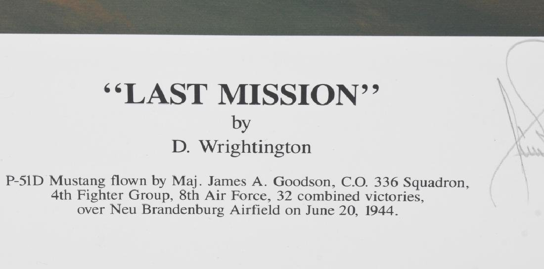WWII AVIATION PRINT SIGNED ACE DON JAMES GOODSON - 3