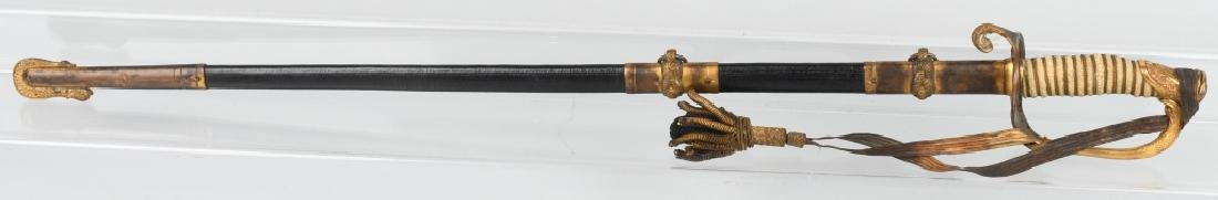 WWII IDED U.S. NAVY OFFICER'S SWORD - 1852 PATTERN - 10