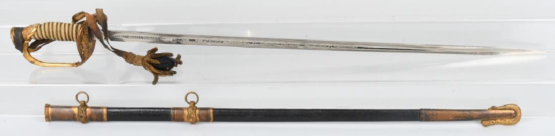 WWII IDED U.S. NAVY OFFICER'S SWORD - 1852 PATTERN