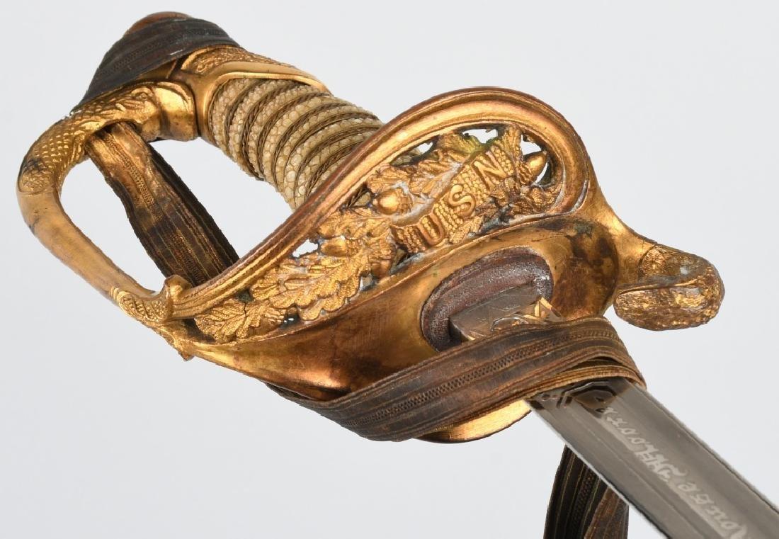 WWII IDED U.S. NAVY OFFICER'S SWORD - 1852 PATTERN - 3