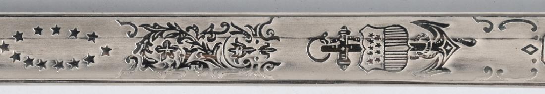 WWII IDED U.S. NAVY OFFICER'S SWORD - 1852 PATTERN - 5