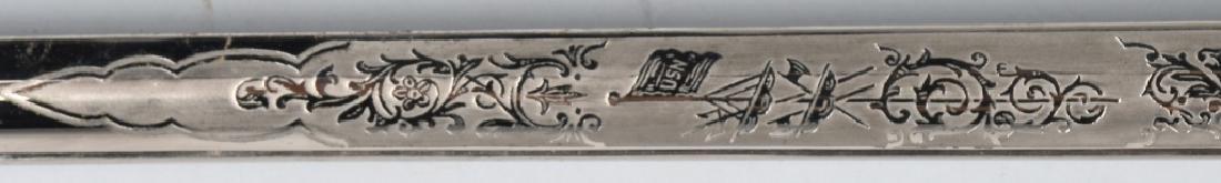 WWII IDED U.S. NAVY OFFICER'S SWORD - 1852 PATTERN - 6
