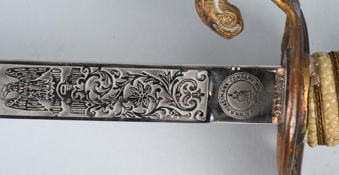 WWII IDED U.S. NAVY OFFICER'S SWORD - 1852 PATTERN - 7