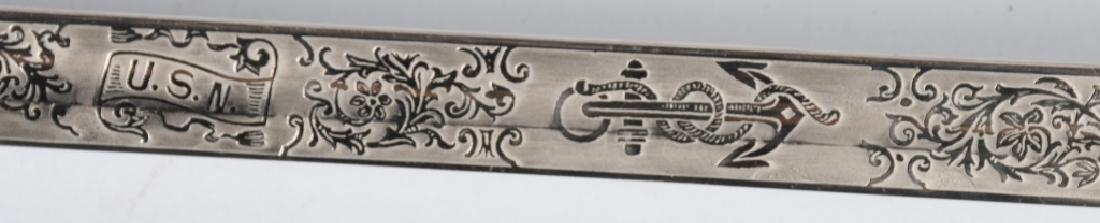 WWII IDED U.S. NAVY OFFICER'S SWORD - 1852 PATTERN - 8