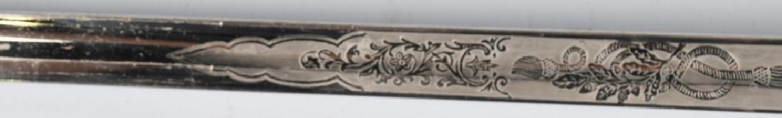 WWII IDED U.S. NAVY OFFICER'S SWORD - 1852 PATTERN - 9