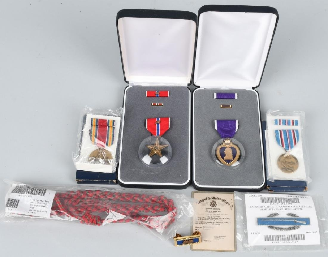 WWII US 101ST AIRBORNE REISSUED MEDALS & ORIG DISC