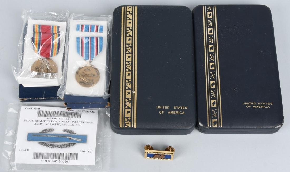 WWII US 101ST AIRBORNE REISSUED MEDALS & ORIG DISC - 6