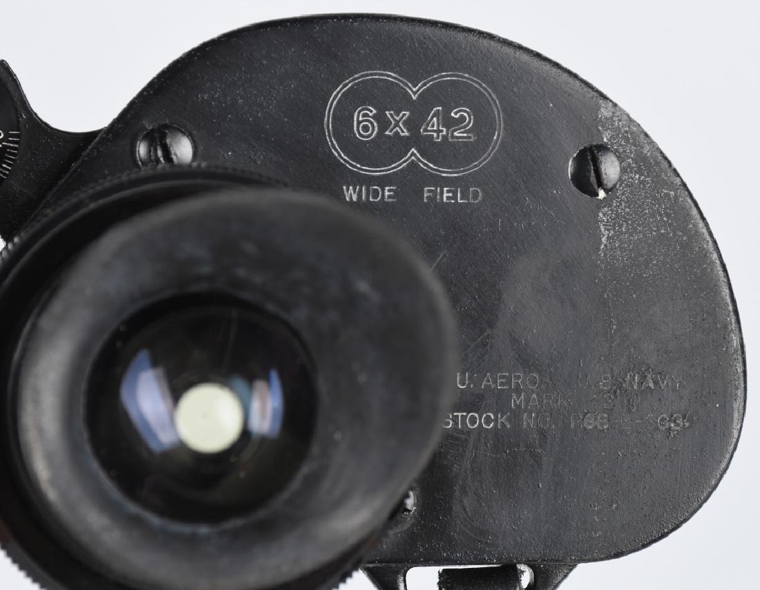 WWII US NAVY MK 43 BINOCULARS IN ORIGINAL CASE - 3