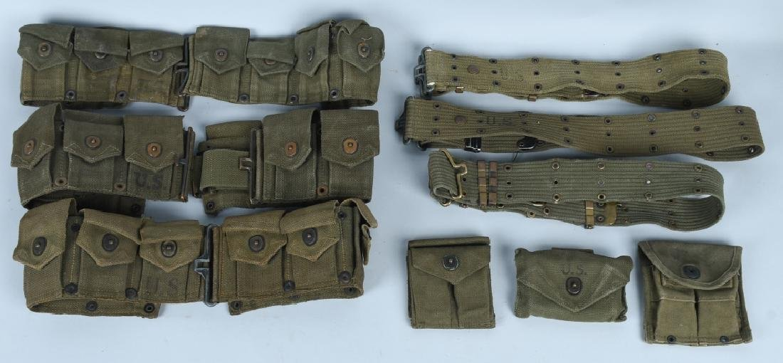 WWII - KOREA RIFLE - PISTOL BELTS & .45 POUCHES