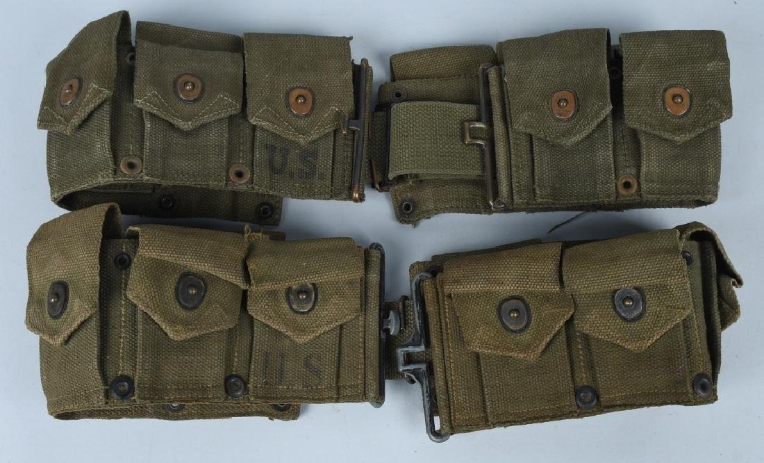 WWII - KOREA RIFLE - PISTOL BELTS & .45 POUCHES - 2