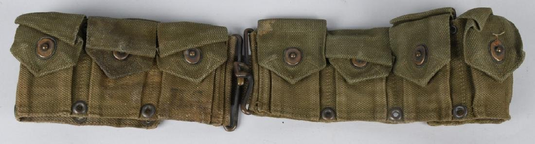WWII - KOREA RIFLE - PISTOL BELTS & .45 POUCHES - 4