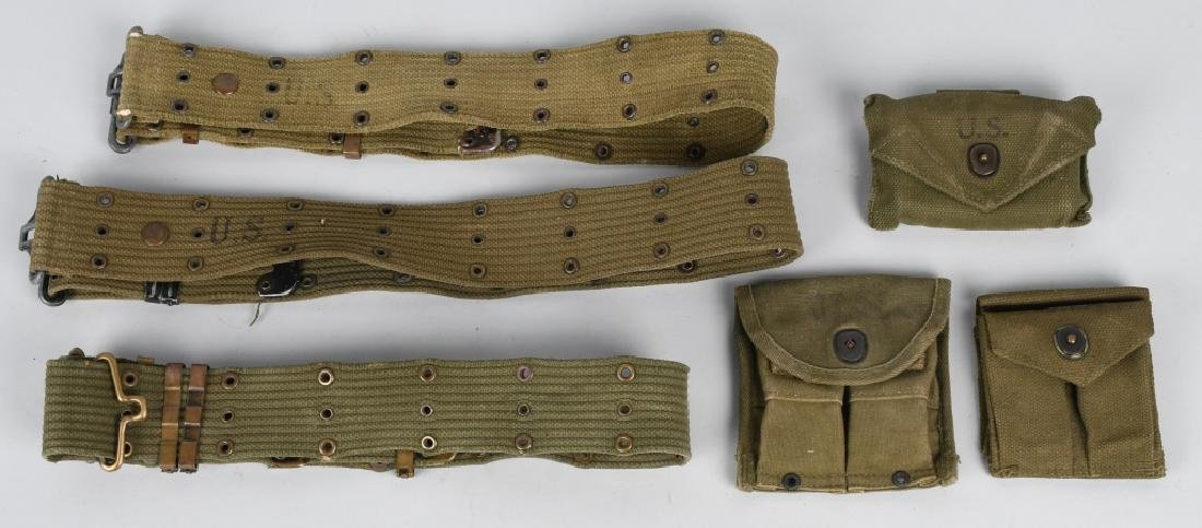 WWII - KOREA RIFLE - PISTOL BELTS & .45 POUCHES - 6