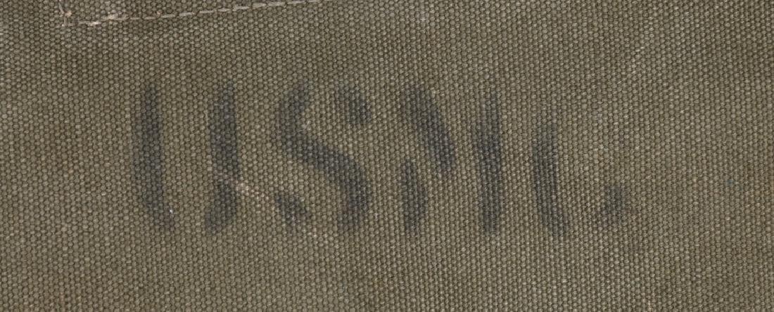 WWII U.S. ARMY BOOTS SHOES & USMC DUFFLE BAG - 3