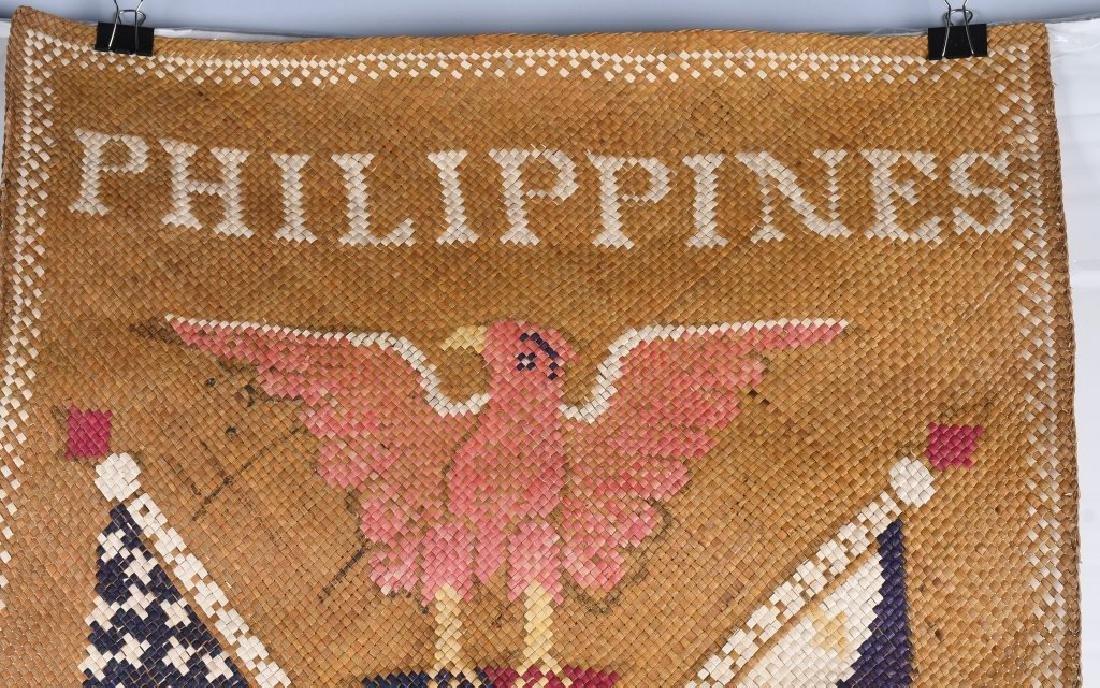 WWII U.S. PHILIPPINES SOUVENIR GRASS MATS & HAT - 10