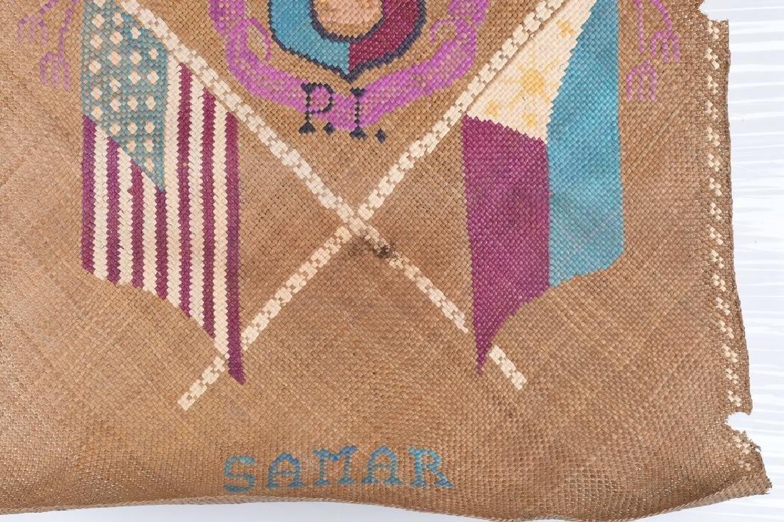 WWII U.S. PHILIPPINES SOUVENIR GRASS MATS & HAT - 8