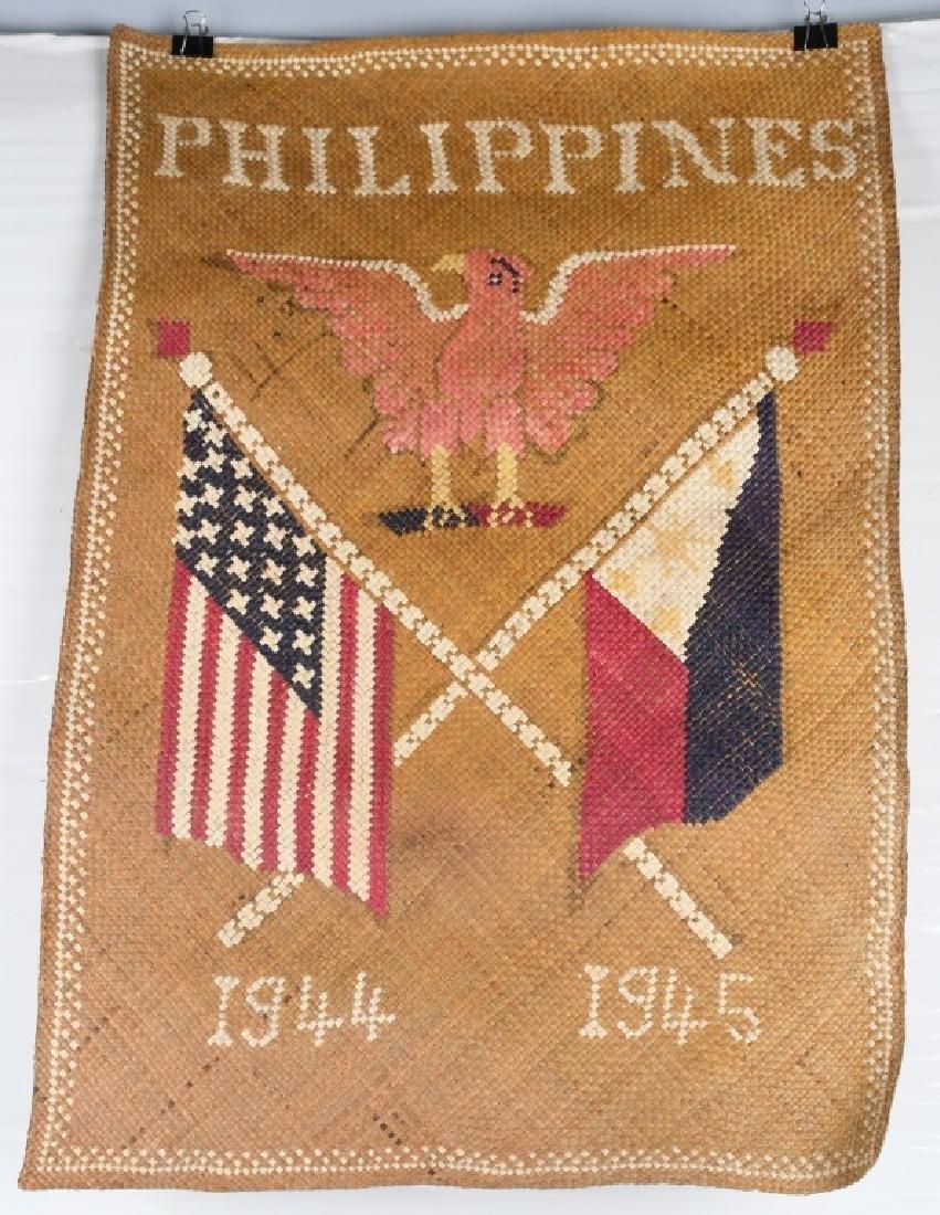 WWII U.S. PHILIPPINES SOUVENIR GRASS MATS & HAT - 9