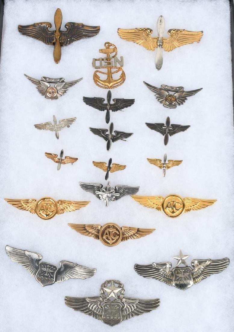 WWII & POST AAF & NAVY - MARINE AVIATION INSIGNIA