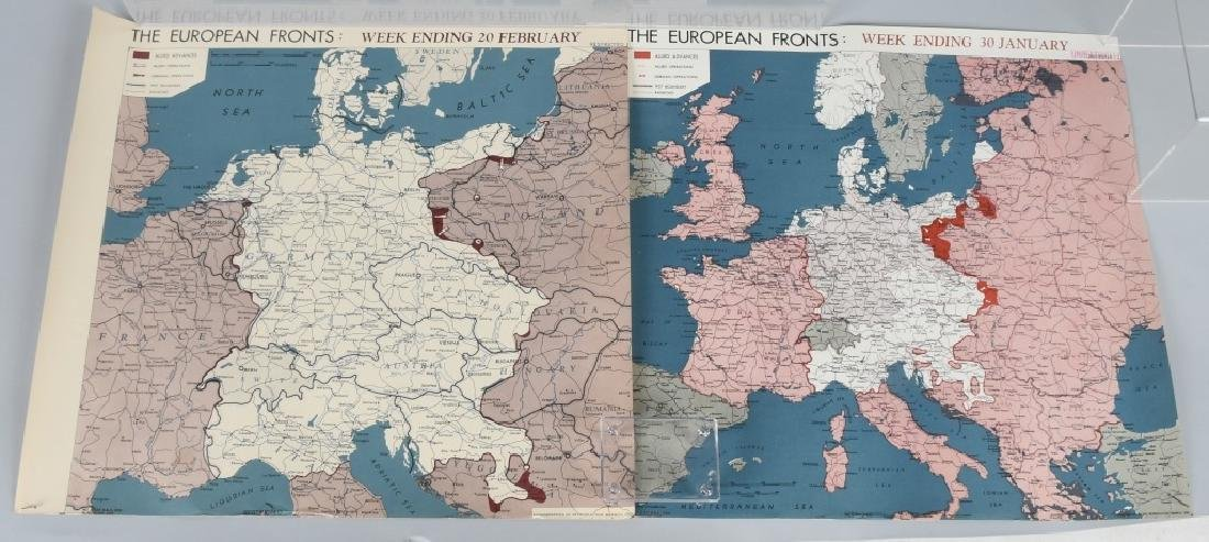WWII 1945 OSS RESTRICTED MAPS (2) EUROPEAN FRONT