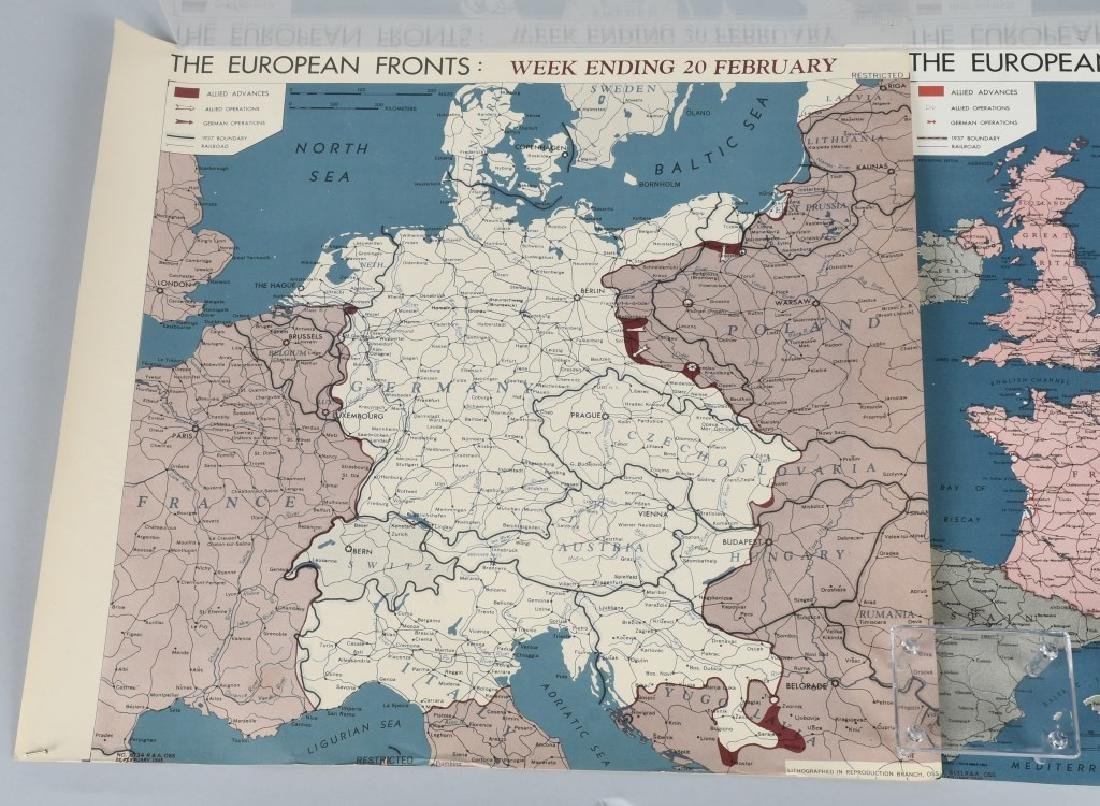 WWII 1945 OSS RESTRICTED MAPS (2) EUROPEAN FRONT - 2