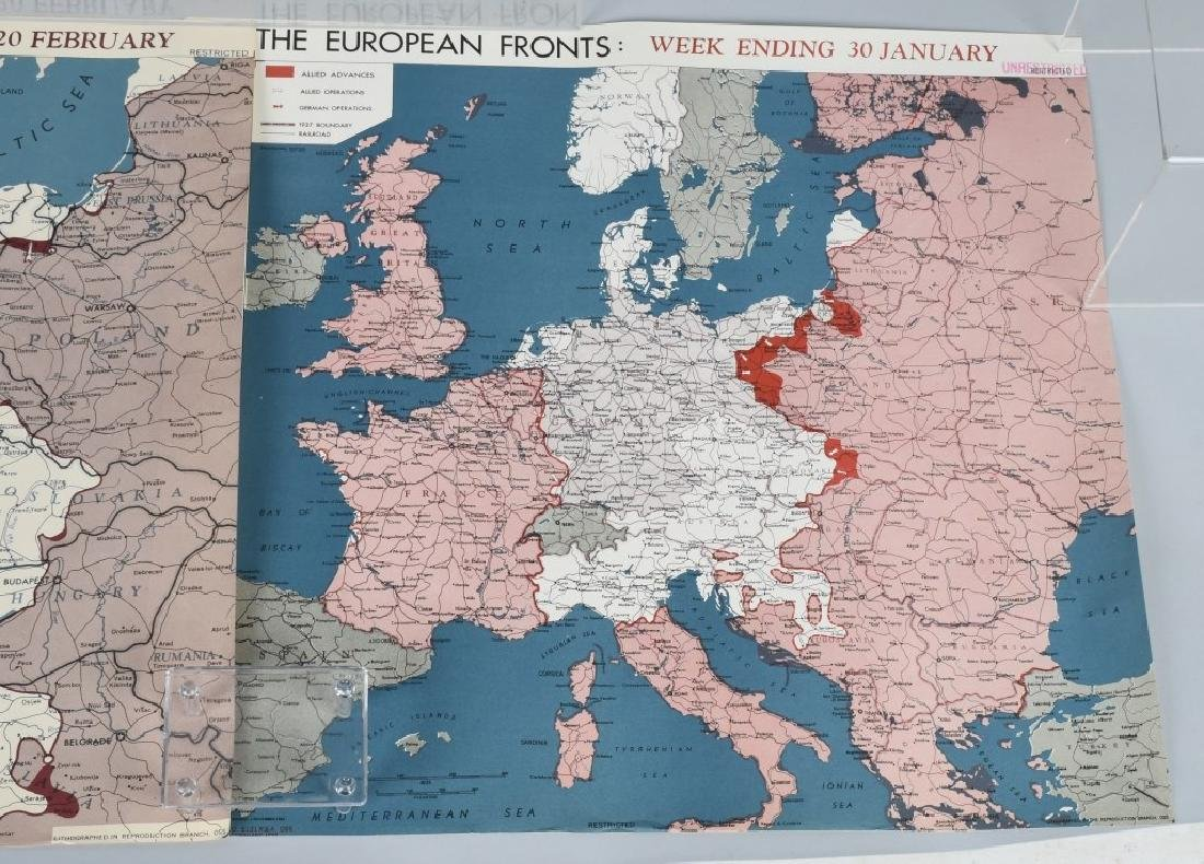 WWII 1945 OSS RESTRICTED MAPS (2) EUROPEAN FRONT - 3