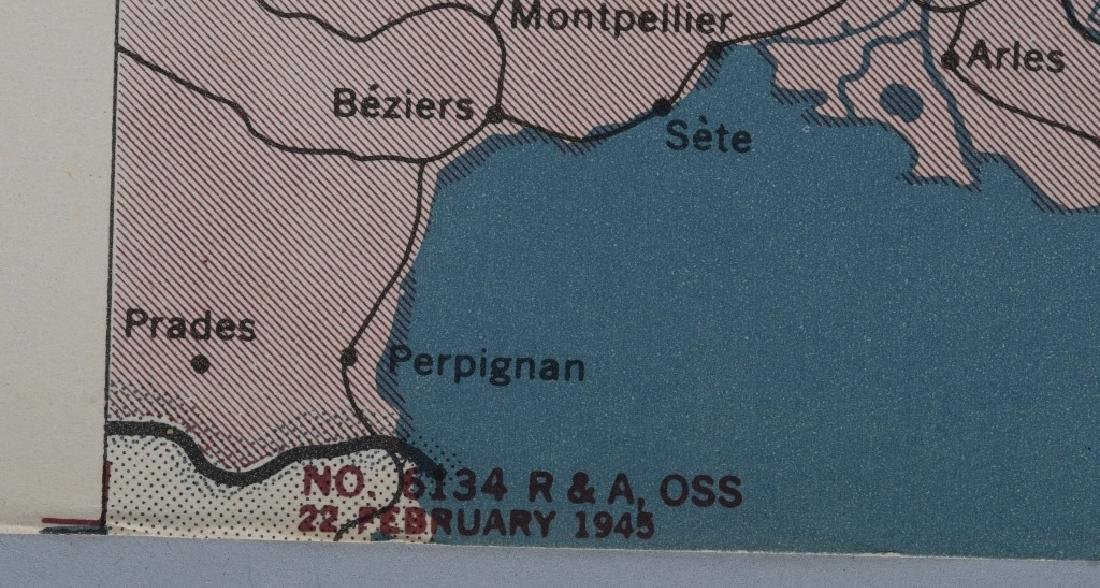 WWII 1945 OSS RESTRICTED MAPS (2) EUROPEAN FRONT - 5