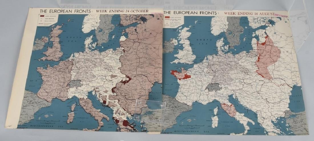 WWII 1944 OSS RESTRICTED MAPS (2) EUROPEAN FRONT