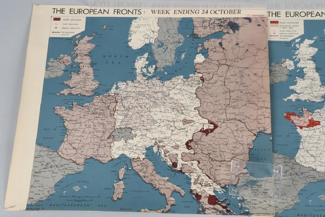 WWII 1944 OSS RESTRICTED MAPS (2) EUROPEAN FRONT - 2