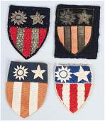 WWII US CBI THEATER MADE PATCH LOT 4