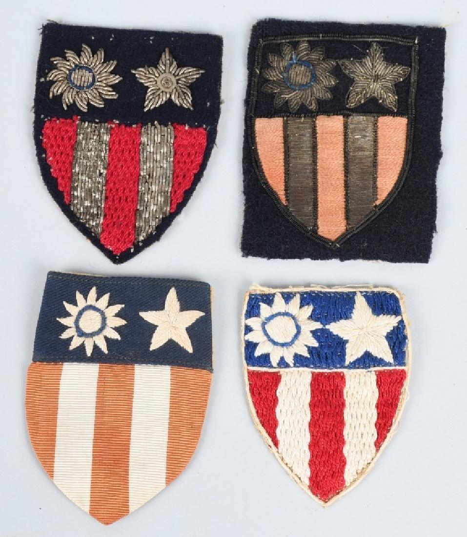 WWII U.S. CBI THEATER MADE PATCH LOT (4)