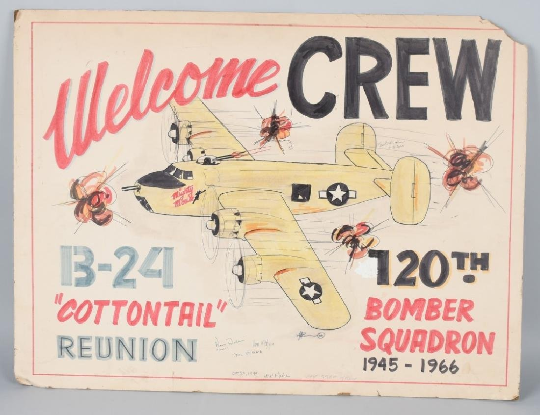 WWII US ARMY AAF 120TH BOM SQUADRON REUNION POSTER